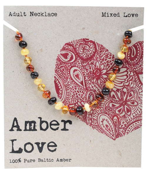 Adult's Necklace Mixed Love 46cm By Amber Love