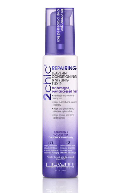Giovanni Blackberry & Coconut Milk Leave In Cond Styling Elixir 118ml