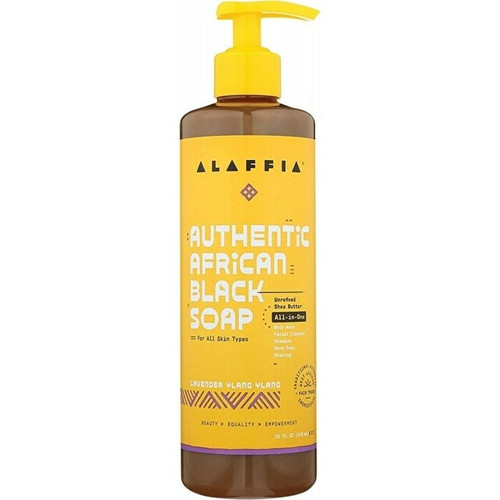 ALAFFIA African Black Soap All-In-One Lavender Ylang Ylang 476ml