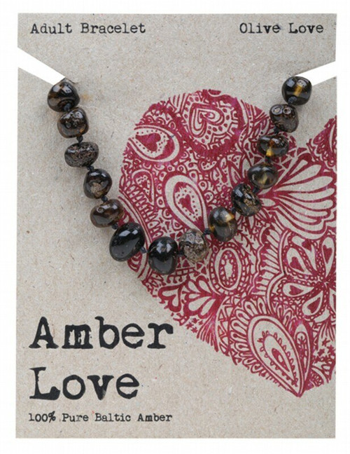 Adult's Bracelet Olive Love 20cm By Amber Love