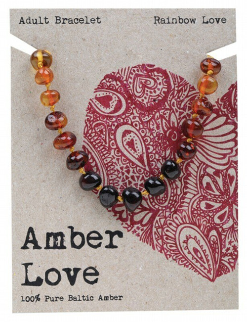 Adult's Bracelet Rainbow Love 20cm By Amber Love