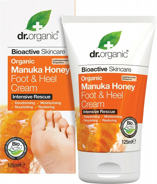 DR ORGANIC Foot & Heel Cream Organic Manuka Honey 125ml