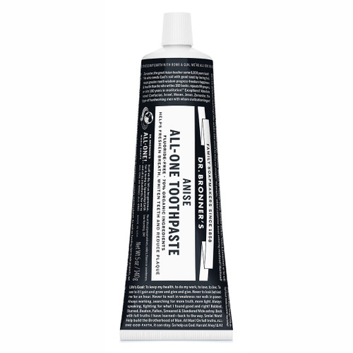 Dr. Bronner's All-One Toothpaste - Anise - 140g