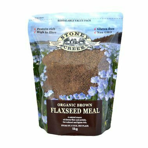 STONEY CREEK Brown Flaxseed Meal Organic 1kg