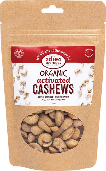 2Die4 Live Foods Activated Cashews 120gr