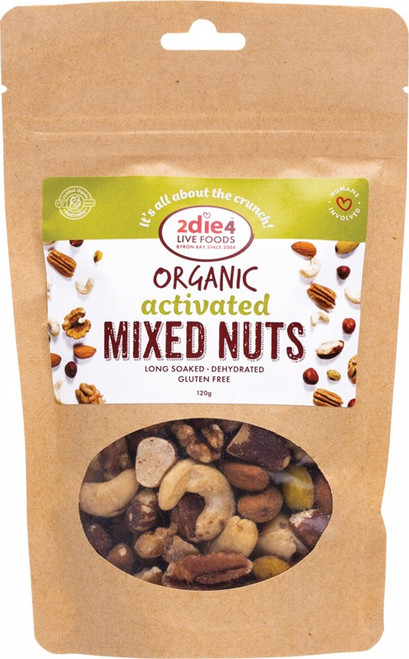 2Die4 Live Foods Activated Mixed Nuts 120g