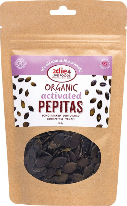 2Die4 Live Foods Organic Activated Pepitas 100g