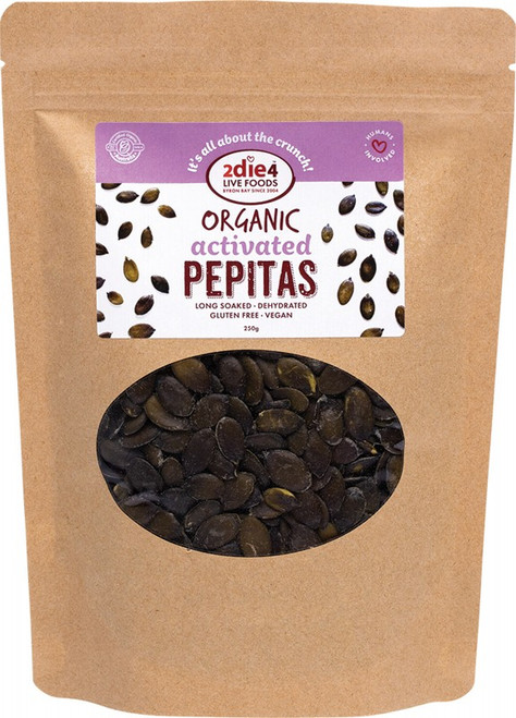 2Die4 Live Foods Activated Pepitas 250G