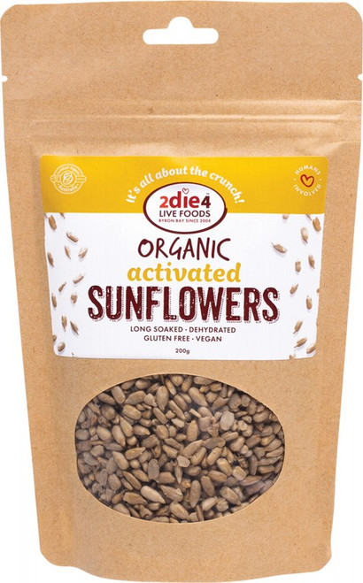 2Die4 Live Foods Organic Activated Sunflower Seed 200g