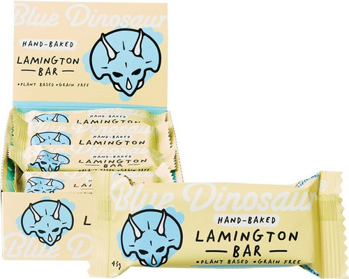 Blue Dinosaur Lamington Paleo Bars 12 x45g