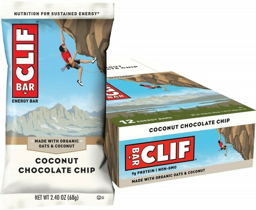 Clif Bar Coconut Chocolate Chip 12 x 68G