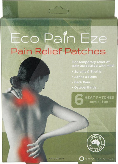 BYRON NATURALS Eco Pain Eze Heat Patches x6