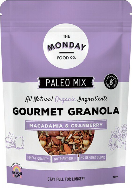 THE MONDAY FOOD CO. Paleo Granola Macadamia & Cranberry 300g