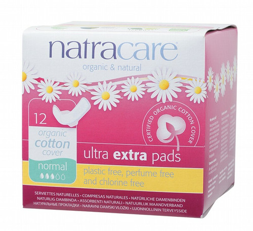 Natracare Ultra Extra Pads Wings Normal 12