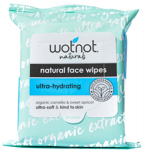 Wotnot Ultra Hydrating Facial Wipes Aging/Dry Skin 25 Pack