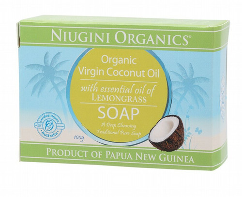 Niugini Organics Lemongrass Coconut Oil Soap 100g