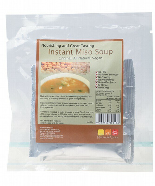Nutritionist Choice Instant Miso Soup 4 x 20g