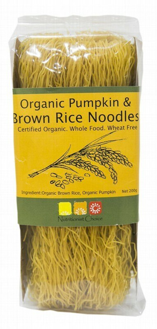 Nutritionist Choice Brown Rice and Pumpkin Noodles 200g