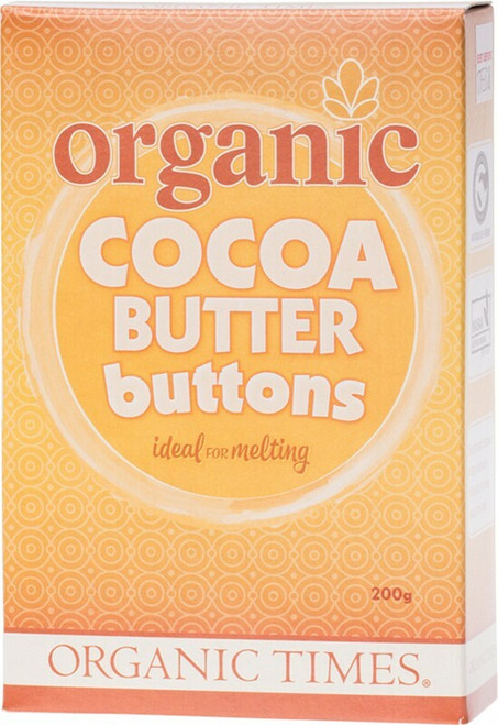 Organic Times Cocoa Butter Buttons 200g