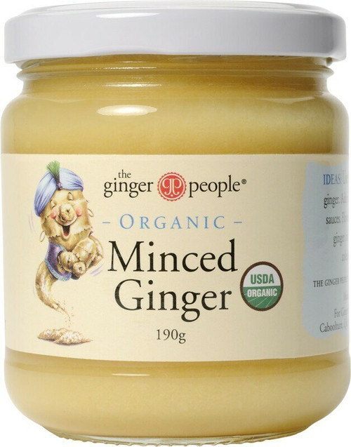 THE GINGER PEOPLE Minced Ginger Organic 190g