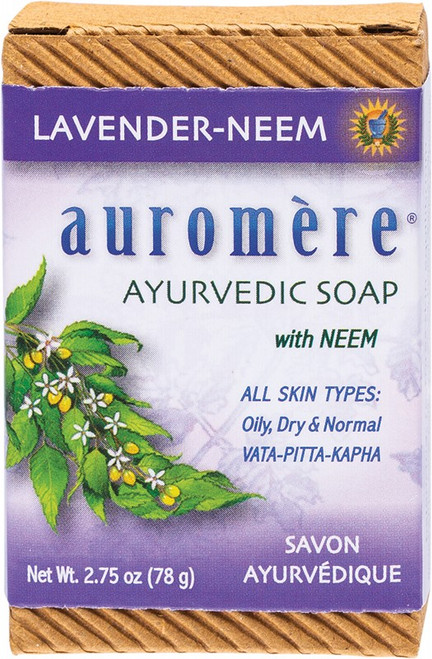 Neem Soap Lavender 78g by AUROMERE