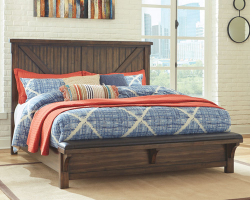 Lakeleigh Brown California King Upholstered Bed