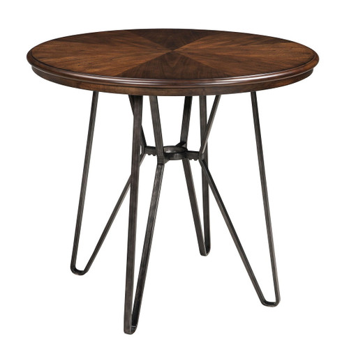 Centiar Two-tone Brown Round  Counter Table