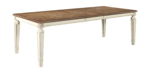 Realyn Chipped White Rectangular Dining Room EXT Table