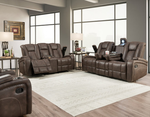 Dual Recline Sofa and Console Loveseat