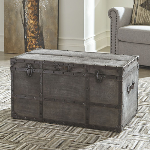 Amsel Gray Storage Trunk