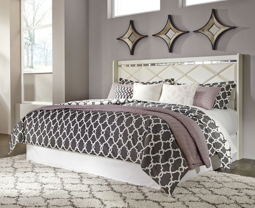 Dreamur Champagne 2 Pc. King Panel Headboard with Bolt on Metal Frame