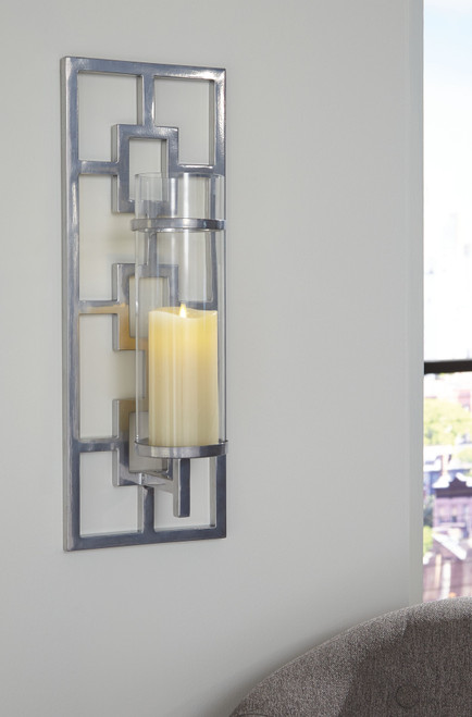 Brede Silver Finish Wall Sconce