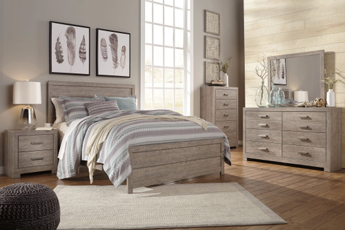 Culverbach Gray 7 Pc. Dresser, Mirror, Chest, King Panel Bed, 2 Nightstands