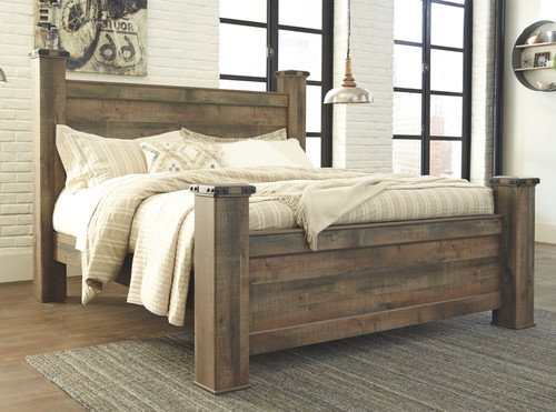 Trinell Brown King Poster Bed
