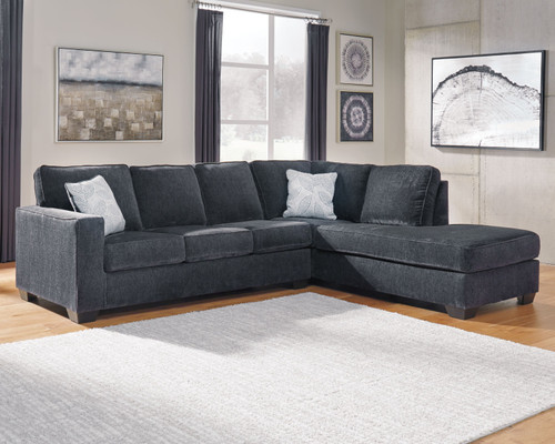 Altari Slate Sectional with Chaise