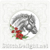SDS0348 ITH Horse Pillow