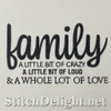 SDS1796 Family Love Quote