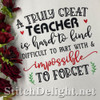 SDS1798 Great Teacher Quote