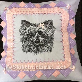 SDS0478 ITH Yorkie Pillow