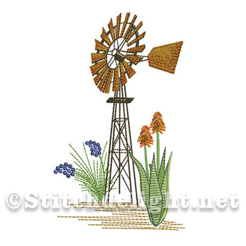 SDS0574 Windmill and Aloes