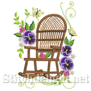 SDS0671 Pansy Wicker Chair