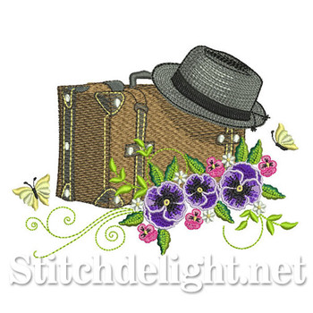 SDS0672 Pansy Suitcase