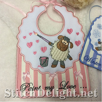 SDS0725 ITH Baby Bibs
