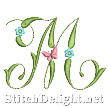 SDS1152 Butterflies and Flowers Font M