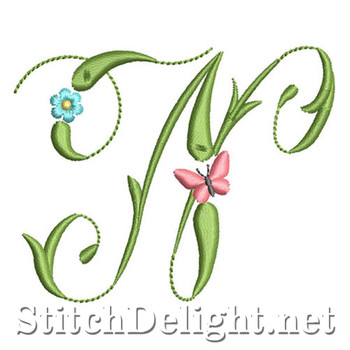 SDS1152 Butterflies and Flowers Font N