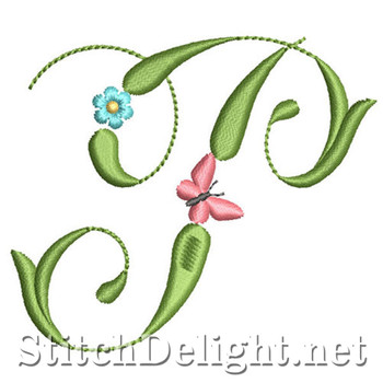 SDS1152 Butterflies and Flowers Font P