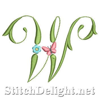 SDS1152 Butterflies and Flowers Font W