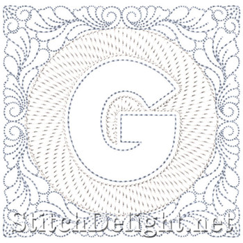 SDS1185 Quilters Block Font G
