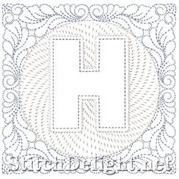 SDS1185 Quilters Block Font H
