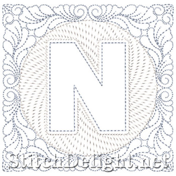 SDS1185 Quilters Block Font N